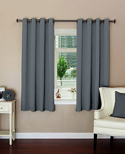 plain polyester blackout curtains