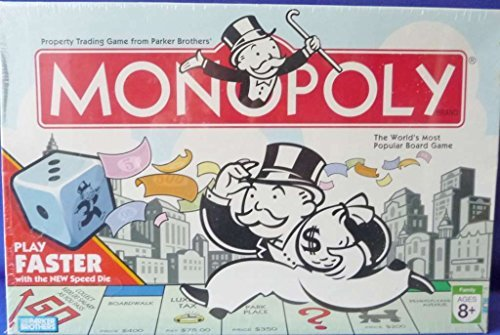 - Parker Brothers Monopoly 2007 with Faster Play Speed DIE Board Game