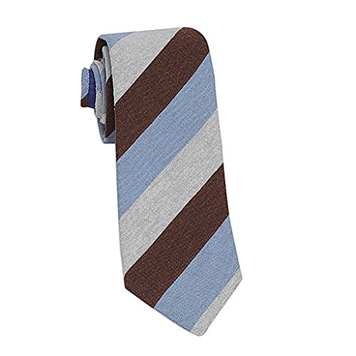 John G. Hardy of London Men's Luxurious Italian Neckwear - Downtown Collection (One Size, Multi Stripe)
