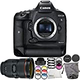 Canon EOS-1D X Mark II DSLR Camera with EF 24-70mm f/2.8L II USM Lens 6PC Accessory Bundle – Includes 3PC Filter Kit (UV + CPL + FLD) + MORE - International Version (No Warranty)