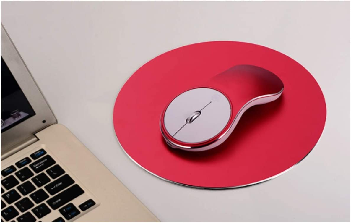 Send Mouse pad Gaming mice CQIANG Mouse Macs Suitable for laptops Aluminum Alloy Wireless Mouse Color : Yellow PCs Charging Mute 2.4G Wireless Mouse