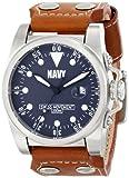 U.S. Navy Wrist Armor Men's 37WA041501A Watches Analog Display Swiss Quartz Brown Watch