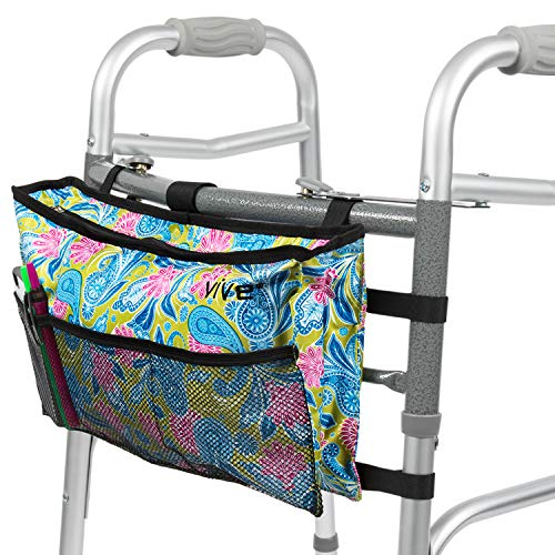Colorful Water Resistant Walker Bag with Multiple Pockets - Choice of Colors