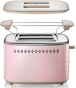 Retro 2 Slice Toaster Stainless Steel Toaster with Bagel, Cancel, Defrost Fuction And Extra Wide Slots Toasters, 6 Shade Settings,Removable Crumb Tray