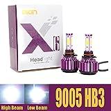 HB3 9005 Car LED Headlight Bulbs Conversion Kit H10 High Beam 20000 Lumens Cool White Headlamp 6000K 360 Degree Beam Angle - 2 Yr Warranty