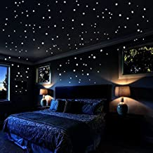 Airbin Glow In The Dark Stars Wall Stickers, 730 pcs Dots and Moon for The Galaxy, Gifts For Kids Bedding Room or Birthday, Wall Decals by, Lighten The Love of Your Heart