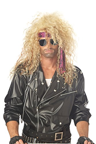[California Costumes Men's Heavy Metal Rocker Wig,Blonde,One Size] (Mens Costumes)