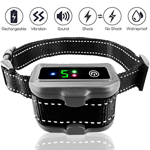 Pexio Professional Bark Collar IP67 Waterproof Rechargeable Dog No Barking Collar with Smart Detected Chip for Small Medium Large Dogs by Pexio