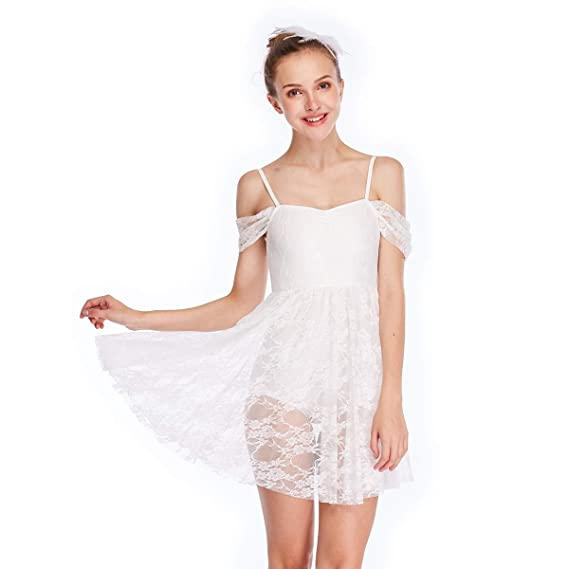 cd53c58ab MiDee Lace Lyrical Dance Dress Drap Sleeve and Georgette with ...