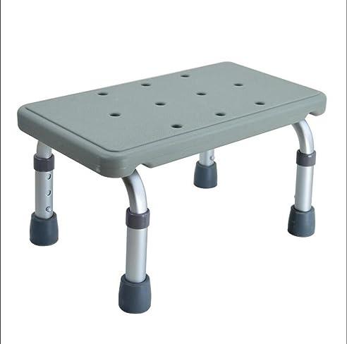 guocairong dusche hocker bad hocker aluminium dusche sitz stuhl rutschfest hhenverstellbar gray height adjustable - Sitz Stuhl Fur Dusche