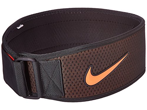 Nike Men's Intensity Training Belt Athletic Sports Equipment (Black/Crimson, X-Large)
