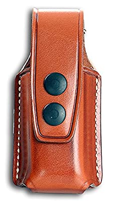 Leather Single Close Magazine Carrier For Glock Magazines & Similar New, Brown Color