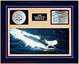 Navy Emporium USS LAFAYETTE SSBN 616 Framed Navy Ship Display Blue