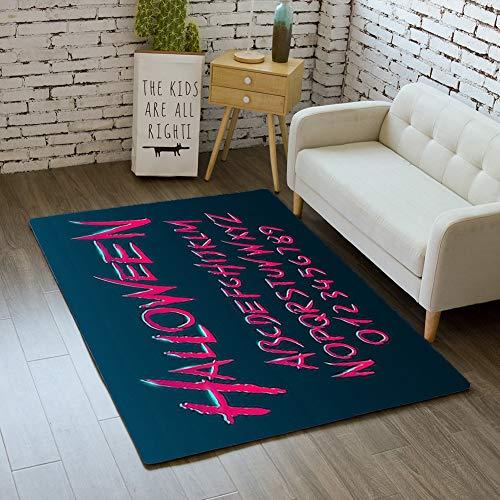 iBathRugs Door Mat Indoor Area Rugs Living Room Carpets Home Decor Rug Bedroom Floor Mats,Halloween Font Letters Numbers