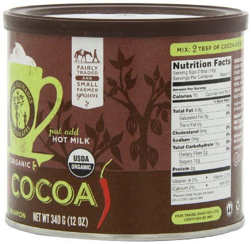 Equal Exchange Organic Spicy Hot Cocoa, 12-Ounce (Pack of 3) 4 Contains 3 bags, 12 oz per bag (36 oz) Vegan Spicy Hot Cocoa with Cinnamon & Cayenne Pepper for Cocoa with a kick Crafted Soy & Gluten Free