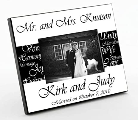 mr mrs wedding frame photo - Mr And Mrs Frame