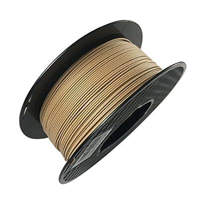 OMAS Wood PLA 3D Printer Filament 1.75mm 1KG Wooden Effect 3D Printing Material Professional Light Color Wood PLA 1.75mm