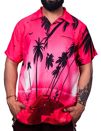 Virgin Crafts Aloha Shirt Boy Girl Coconut Beach Holiday Party Pink XS ()