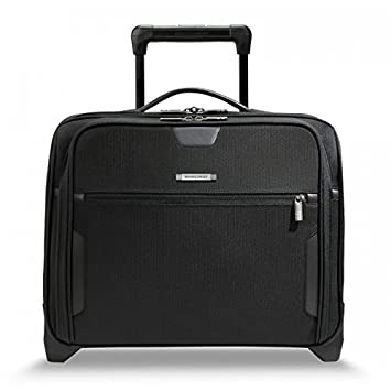 1239b58bc08d Amazon.com | Briggs & Riley @ Work Luggage Slim Rolling Brief, Black, One  Size | Briefcases