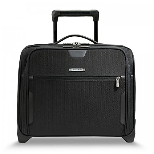 Briggs & Riley @Work Luggage Slim Rolling Brief, Black, One Size