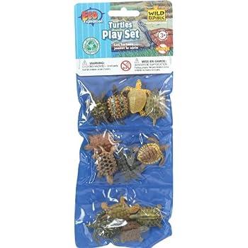 Dozen Small Toy Turtles: Set of Mini Plastic Figures by Wild Republic