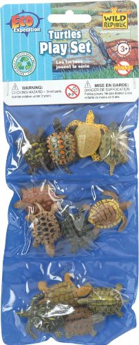 Wild Republic Polybag of Mini Turtle Figurines