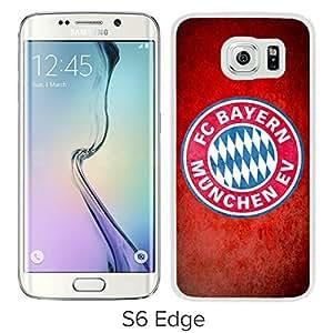 Fashionable Custom Designed Skin Case For Samsung Galaxy S6 Edge With Bayern Munich White Phone Case 3