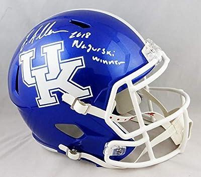 Josh Allen Signed Kentucky Wildcats F/S Speed Helmet w/Insc- Beckett Auth White