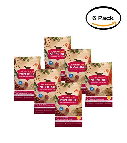 PACK OF 6 - Rachael Ray Nutrish Natural Dry Dog Food, Real B