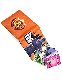 Fort Game Wallet for Boys Men Girls, Video Game Wallet Pocket with Money Clip Credit Card Holder