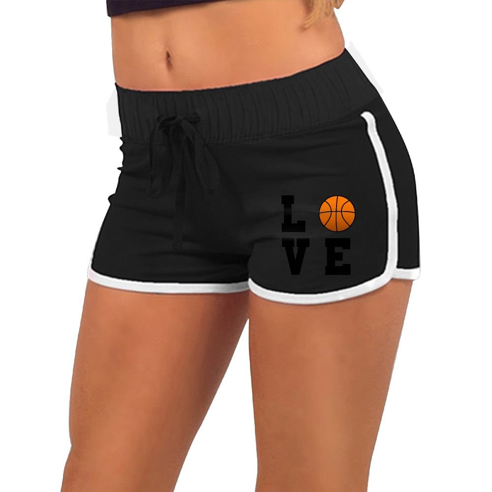 Love Basketball Gift For Basketball Lovers Girls Comfort Waist Workout Running Shorts Pants Yoga Shorts by Baujqnhot (Image #1)