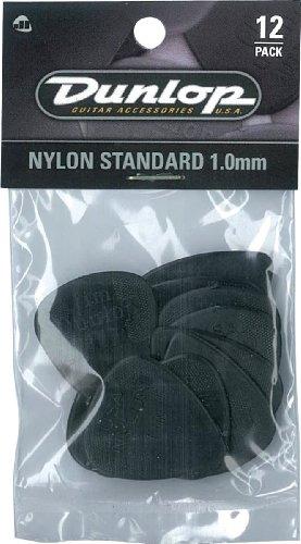 (Dunlop 44P1.0 Nylon Standard, Black, 1.0mm, 12/Player's Pack)