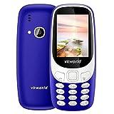 VKworld Z3310 Elder Phone 2.4 inch 3D Screen 1450mAh Battery Class K Amplifier Dual SIM (Dark Blue)