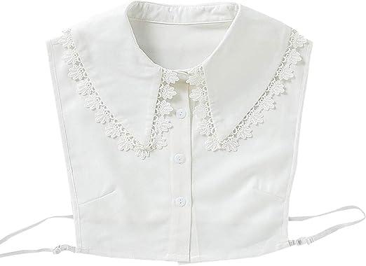 Folewr-8 Flor Encaje Falso Cuello de Mujer Desmontable Collar Camisa suéter Ropa Accesorio: Amazon.es: Hogar