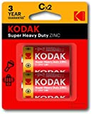 Kodak Super Heavy Duty Size C 2 Pack Zinc Batteries (30383609)