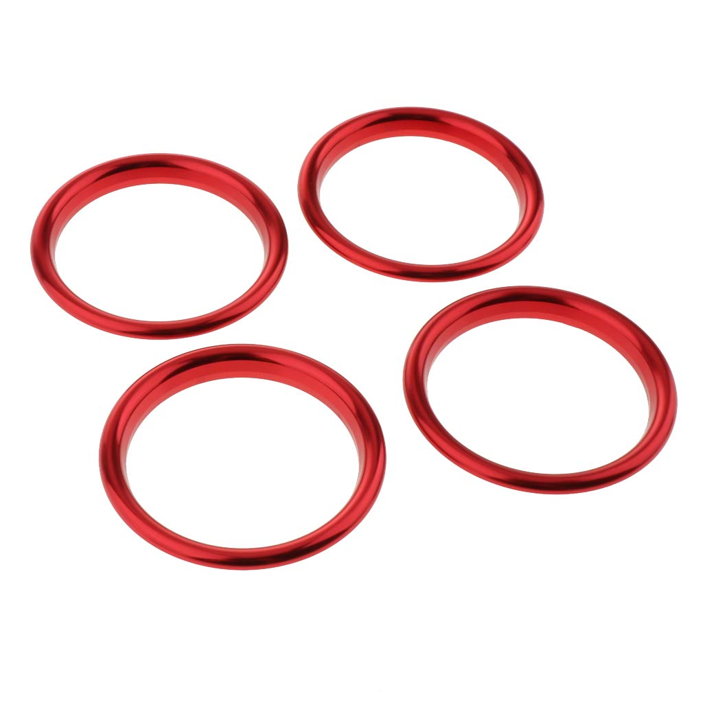 MagiDeal 4PCS AC Air Vent Outlet Cover Sticker Ring for Audi A3 S3 2013-2016 Red
