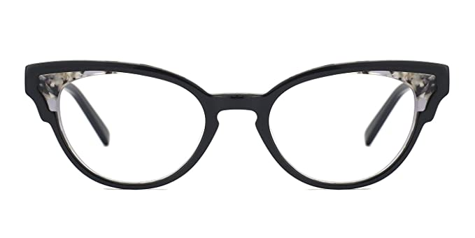 5a081dd65 TIJN Sexy Women Cat Eye Non Prescription Eyeglasses Eyewear Frames,Black