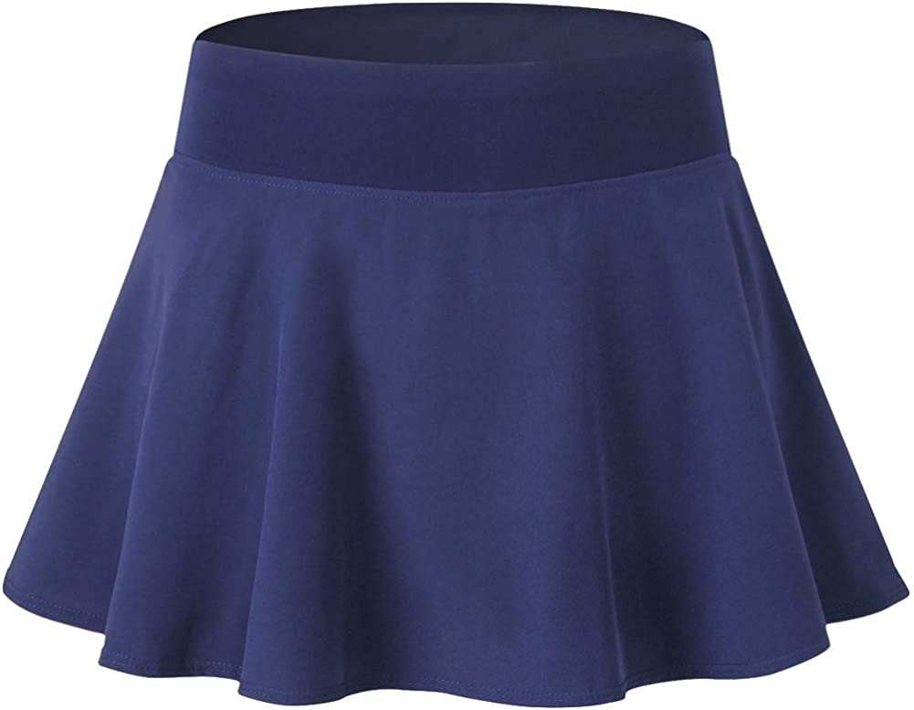 Lavento Womens Athletic Skirt Cool Dry Lined Workout Active Skort 1 Pack-2802 Navy Blue,X-Large