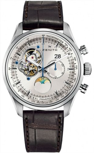 New Mens Zenith El Primero Chronomaster Open Grande Date Moonphase Chronograph Watch 03.2160.4047/01.C713