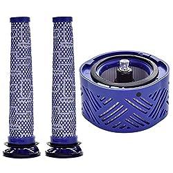 Gotty offers a filter set of 1 Post HEPA Filter and 1 Pre Filter for V6 Absolute, V6 Animal, V6 Animal Extra, V6 Motorhead, V6 Motorhead Exclusive, V6 HEPA, V6 Cord-free, V6 Baby+Child, V6 Car+Boat, V6 Top Dog, V6 Trigger. designed to replace Dyson P...