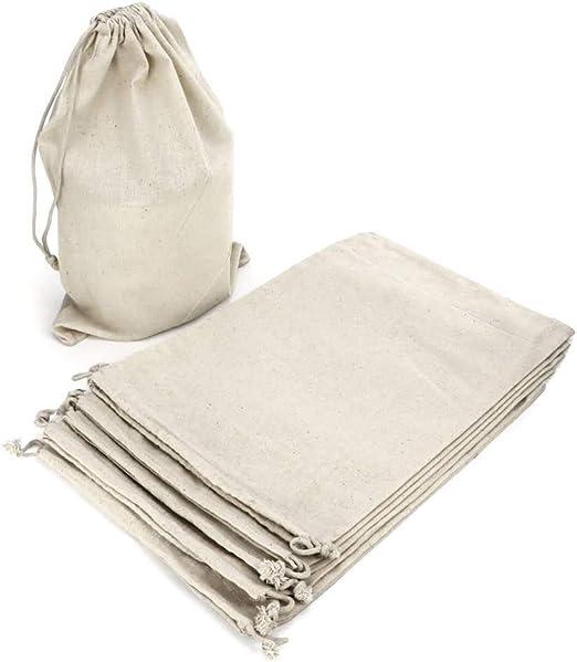 RUBY - 6 Bolsas de algodón, saquitos de algodón, bolsas organza de ...