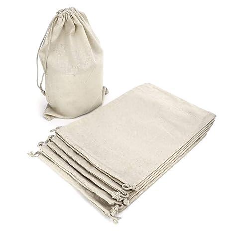 RUBY - 12 Bolsas de algodón, saquitos de algodón, bolsas ...