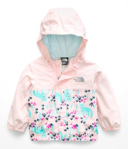 Fox Girls Jacket - The North Face Infant Tailout Rain Jacket - Purdy Pink Fox Floral Print - 12M