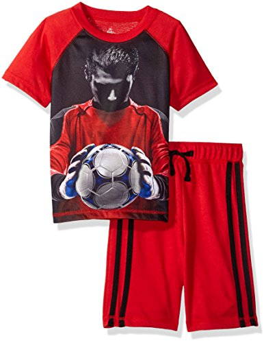 Petit Lem Big Boys' Soccer Pro Goalie Pajama, Black, 5