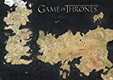 Pyramid America Game of Thrones Map of Westeros and Essos TV Giant Poster 55x39 inch