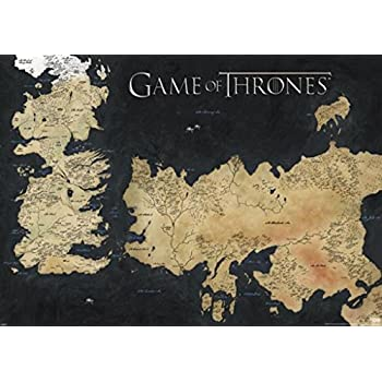 Amazon pyramid america game of thrones map of westeros and pyramid america game of thrones map of westeros and essos tv giant poster 55x39 inch gumiabroncs Gallery