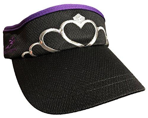 (Tiara Visor (Black/Purple))