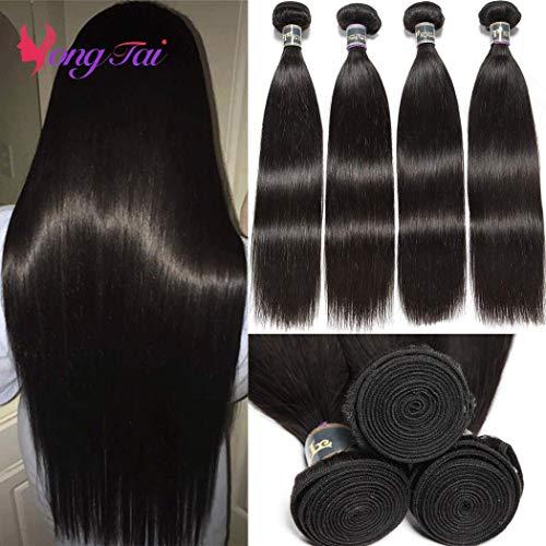 Malaysia Silky Straight Human Hair 9A Virgin Straight Weave Hair Human Bundles 100% Unprocessed 1B Color Malaysian Straight Remy Human Hair Extensions Wavy (16 18 20 22,400g)