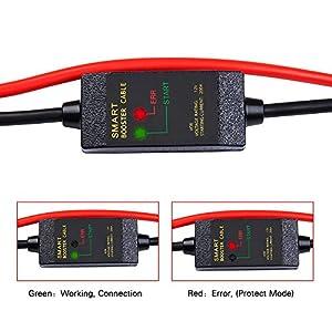 Booster Jumper Cables Automotive Replacement Car Jumper Cables Alligator Clamp JUMP STARTER CABLE CLAMP Booster Battery Clips for Car Jump Starter 12V (Smart)