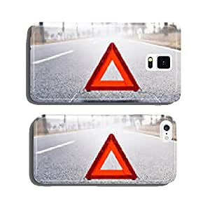 Bad Weather Driving - Warning Triangle on a Misty Road cell phone cover case Samsung S5